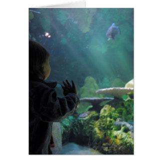 Espectador del tanque de la tortuga tarjeta de felicitación