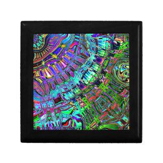 Espectro abstracto de formas caja de regalo