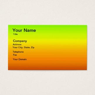 Espectro de colores horizontales -3 tarjeta de visita