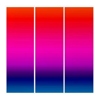Espectro de colores, rojo, púrpura, arte azul del