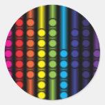 Espectro punteado etiquetas redondas