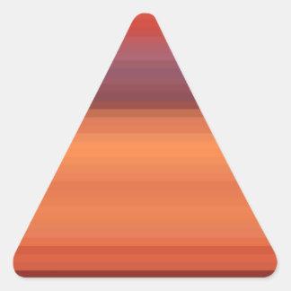 Espectro reconstruido pegatinas de triangulo personalizadas