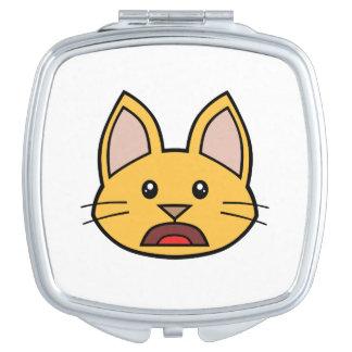 Espejo compacto anaranjado 01 del gato FACE0000004