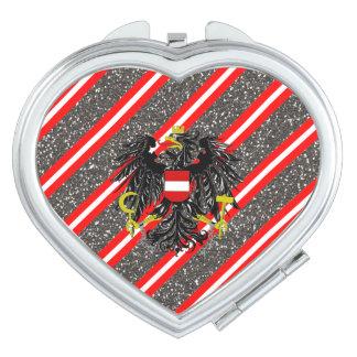 Espejo Compacto Bandera austríaca de las rayas