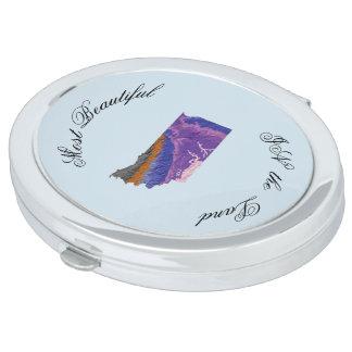 Espejo Compacto Belleza topográfica