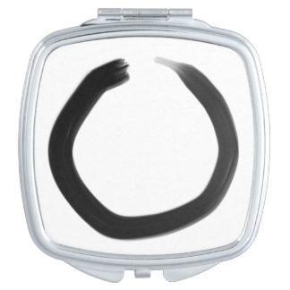Espejo Compacto Círculo de Enso del budista de zen