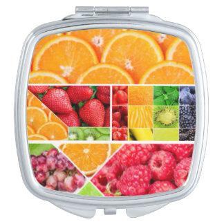 Espejo Compacto Collage de la fruta de la mezcla