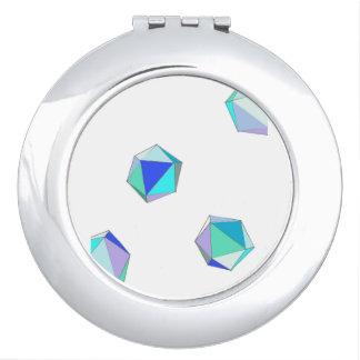 Espejo compacto de cristal del mar