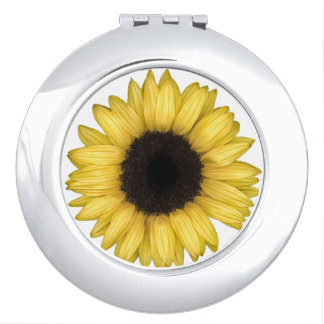 Espejo compacto del girasol