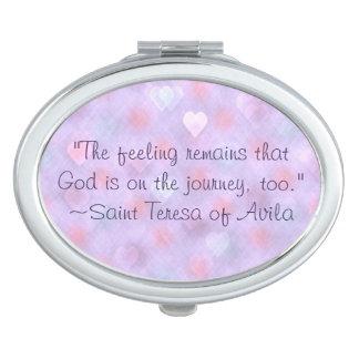 Espejo Compacto Dios de St Teresa en cita del viaje