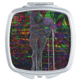 Espejo Compacto Diosa abstracta del acuario