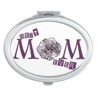 """Espejo Compacto Diseño lindo de la """"mejor mamá nunca"""""""