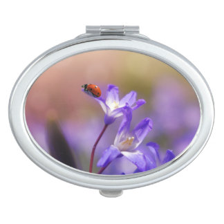 Espejo Compacto El personalizado de la suerte de la mariquita