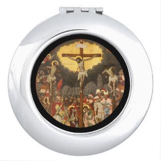 Espejo Compacto Escena 1711 de la crucifixión
