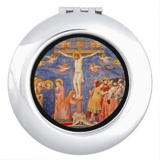 Espejo Compacto Escena medieval del Viernes Santo