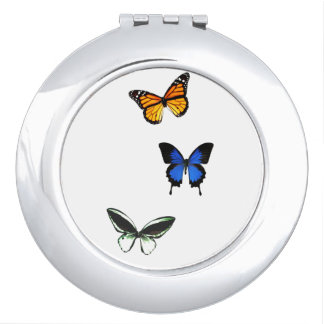 Espejo Compacto Espejo del acuerdo del modelo de mariposa
