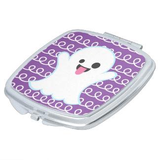 Espejo Compacto Fantasma tonto de Emoji (remolino púrpura)
