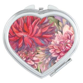 Espejo Compacto flores de las dalias