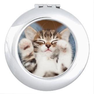 Espejo Compacto Gatito en mi revestimiento