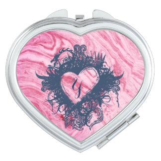 Espejo Compacto hermoso elegante del modelo de mármol rosado de la