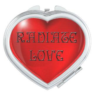 Espejo Compacto Irradie el corazón del amor