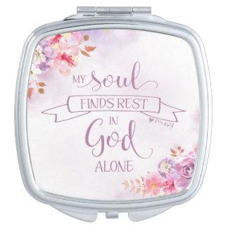 Espejo Compacto La acuarela mi alma encuentra el resto, 62:1 del
