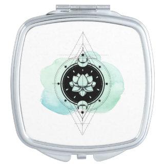 Espejo Compacto La luna de Lotus del *~* protagoniza geometría
