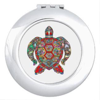 Espejo Compacto Línea ornamental floral decorativa arte de la