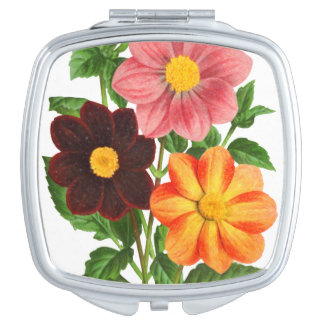 Espejo Compacto Manojo de dalias