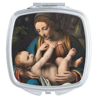 Espejo Compacto MED Kristusbarnet de Madonna