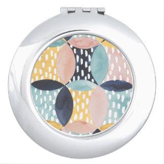 Espejo Compacto Modelo abstracto del círculo