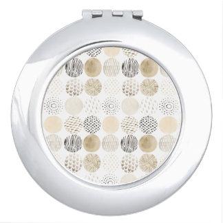 Espejo Compacto Modelo abstracto neutral del círculo