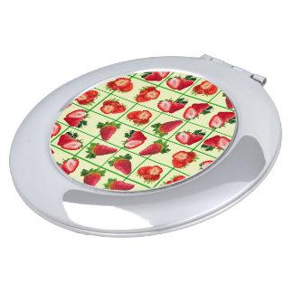 Espejo Compacto Modelo de las fresas