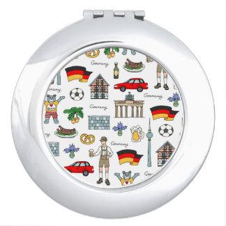 Espejo Compacto Modelo de los símbolos de Alemania el |