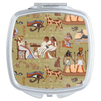 Espejo Compacto Modelo de los símbolos de Egipto el |
