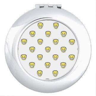 Espejo Compacto Modelo enojado del gráfico de Emoji