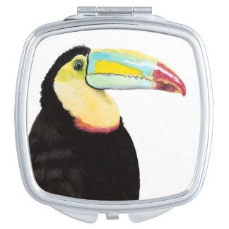 Espejo Compacto Pájaro tropical de Toucan