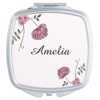 Espejo compacto personalizado adornado con las