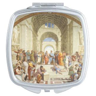 Espejo Compacto Raphael - La escuela de Atenas 1511