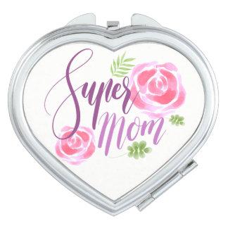 Espejo Compacto Rosas estupendos del acento de la mamá de la