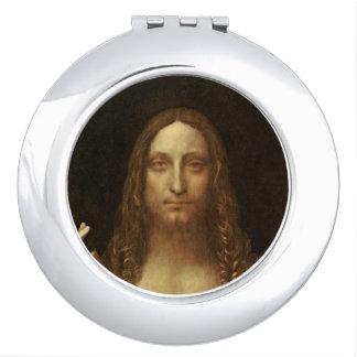 Espejo Compacto Salvator Mundi Cristo con el mundo en su mano