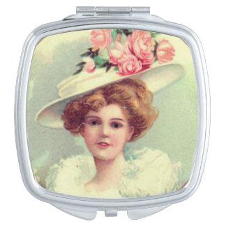 Espejo Compacto Señora del Victorian