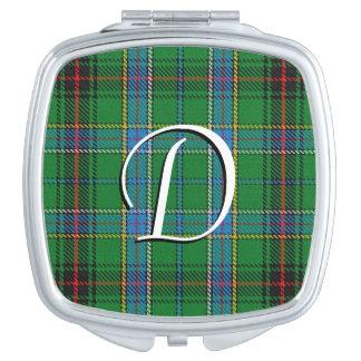Espejo Compacto Tela escocesa de tartán escocesa de Duncan del