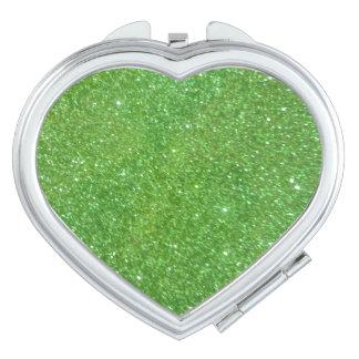 Espejo Compacto Textura verde del extracto del brillo