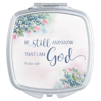 Espejo Compacto Todavía esté y sepa que soy dios, 46:10 del