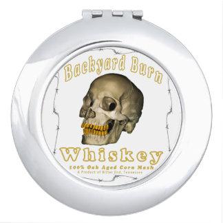 Espejo Compacto Whisky de la quemadura del patio trasero