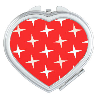 Espejo CRUZADO BLANCO ROJO del acuerdo del corazón