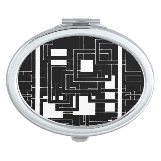 Espejo de bolsillo oval laberinto de cuadrados espejo para el bolso zazzle - Espejos de bolsillo ...