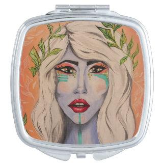 Espejo de las hojas espejos compactos