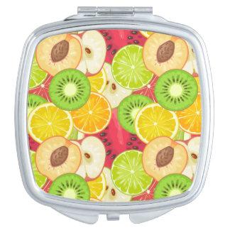 Espejo De Maquillaje Modelo colorido de la fruta de la diversión